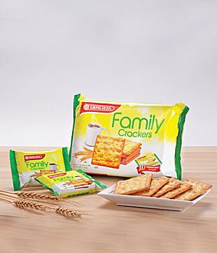 12 X 230gm  Family Cracker   Net Weight : 230 gm per Packet   Carton Size : 423 x 213 x 306