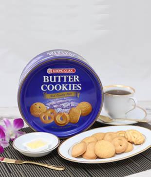 12 X 454gm Danish Butter Cookies   Net Weight :  454 gm per Tin   Carton Size : 398 x 396 x 273