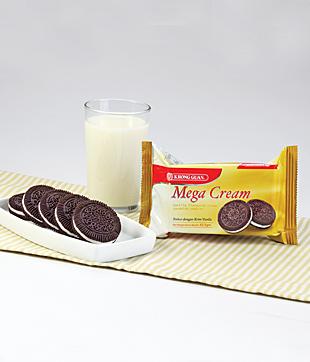 24 X 62.5gm Mega Cream   Net Weight : 62.5 gm per Packet   Carton Size : 286 X 244 X 156