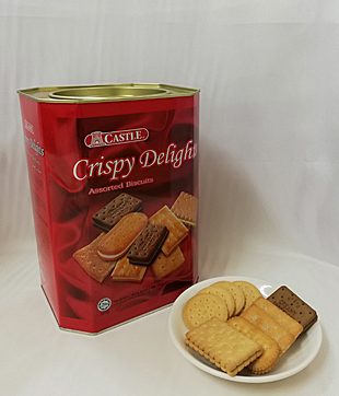 6 X 600gm Crispy Delight Assorted Biscuit ( Castle Brand )