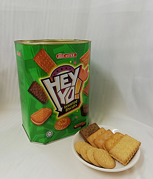 6 X 600gm Hey Yo Assorted Biscuit ( Castle Brand )