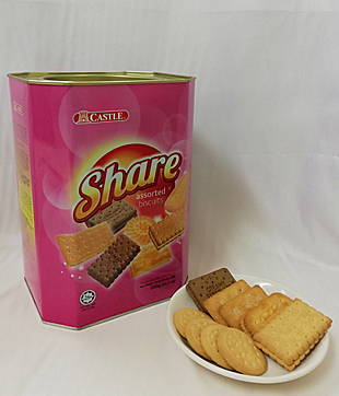6 X 600gm Share Assorted Biscuit ( Castle Brand )