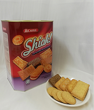6 X 600gm Shiok Assorted Biscuit ( Castle Brand )